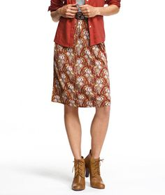 Wescott Knit Skirt, Print: SKIRTS | Free Shipping at L.L.Bean