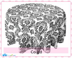 Cheap table cloth and chair covers, Buy Quality table cloth runner directly from China table cloth color Suppliers: 100% Brand New Black Color Taffeta Damask Tablecloths Wedding Flocking Lace Table cloth Overlays 100% Brand New