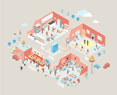 Illustrations for iiko (Orka Collective