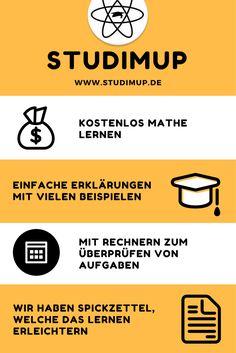 Mathe lernen mit Studimup. Für alle Schulen und Klassenstufen. Schaut mal rein.