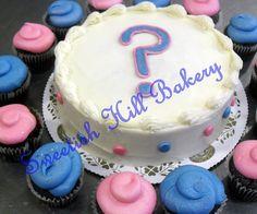 Gender Reveal Baby Shower Cake by sweetishhillbakery, via Flickr