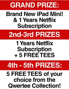 Win an iPad Mini with Qwertee! (and a load of other AWESOME prizes:)