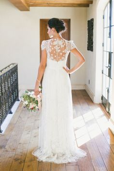 Swoon worthy dress: http://www.stylemepretty.com/2015/04/03/red-pink-malibu-mountaintop-wedding/   Photography: Onelove - http://www.onelove-photo.com/