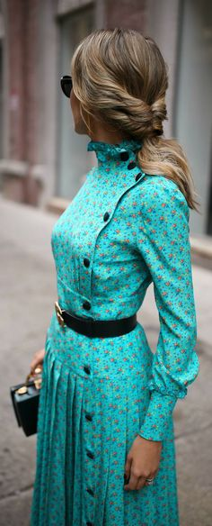 The Colour and Button Pattern #womenfashion #style #dress