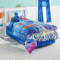 Disney/Pixar Finding Dory Reversible Twin Comforter Collection by Jumping Beans //Price: $32.26 & FREE Shipping //     #hashtag4