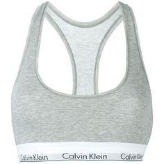 CALVIN KLEIN UNDERWEAR Logo Bra Top ($30) ❤ liked on Polyvore featuring tops and calvin klein underwear