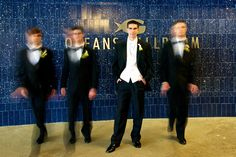 Super cool shot of the groomsmen | @Jason Mundie of A Dream Within Photography