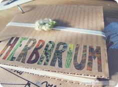 Herbarium ready for my next exploring adventure. DIY -super easy-: Cut corrugated cardboard (or the one from cereal boxes) in the same size,. Cardboard City, Cardboard Crafts, Leaf Projects, Garden Projects, Halloween Outfits For Kids, Diy For Kids, Crafts For Kids, Matchbox Crafts, Nature Journal