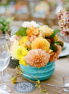 wedding centerpiece idea; Photo: Marisa Holmes Photography