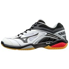 big sale 00993 c403d MIZUNO Badminton shoes WAVE FANG SS MD 71GA1511 White X black X red