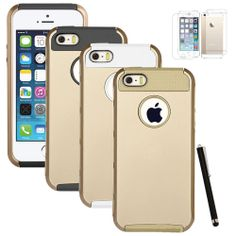 Champagne Gold Protection Gear for iPhone #apple #iphone5s #iphone5 #fashion #case #protection #offer #smacktom