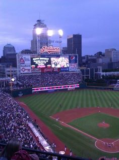 The Cleveland Indians stadium has to be my favorite place in Cleveland.I have a lot of childhood memories from there, and during the summer we always make it to a few season games. GO TRIBE!