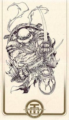 Teenage Mutant Ninja Turtles - Leonardo by Harvey Tolibao *