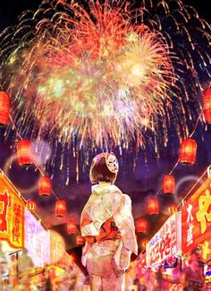 Matsuri Festival, Art Festival, Anime Summer, Anime Kimono, Japanese Festival, Anime Galaxy, Japan Painting, Romantic Manga, Gekkan Shoujo