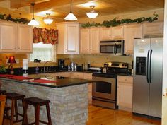 Stone Kitchen Island Images stacked stone kitchen island home on tim's ford contact sandy poe