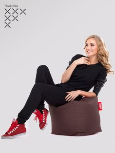 pufa kostka brązowa pufashop Sport, Blouse, Long Sleeve, Sleeves, Tops, Women, Fashion, Moda, Deporte