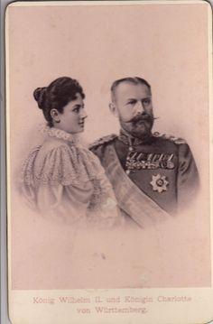 König Wilhelm II v Württemberg m F Charlotte P zu Schaumburg Lippe 1890