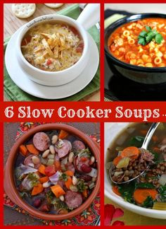 6 Slow Cooker Soup #recipes