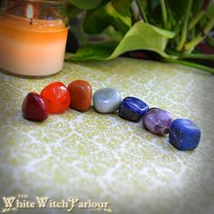7 CHAKRA Crystal Gemstone Set. Wicca. Pagan. by WhiteWitchParlour, $14.00