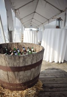 I would want this for a wine cooler rather than the beer cooler at the reception