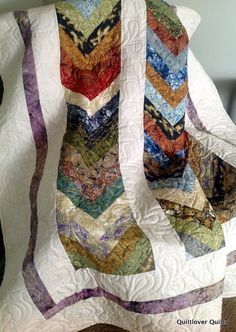 Lap Quilt Sofa Throw RUSTIC BRAID 64 x 74 by QuiltLover on Etsy, $235.00