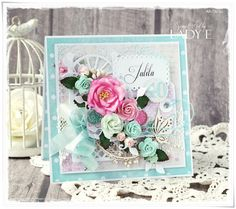 Scrap Art by Lady E: 40th Birthday Card - Wild Orchid Crafts DT