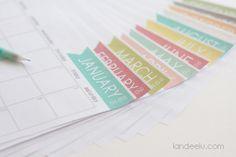 Such a cute free printable calendar for 2015!