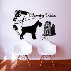 Dog Wall Decals Grooming Salon Decal Vinyl Sticker Pet Shop Scissors Decor Bedroom Interior Design Window Studio Art Mural MN933