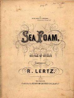 Sheet Music - Sea foam mazurka