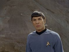 Spock sees the woman holding Bones's hand and Bones gets embarrassed