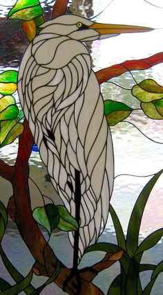 Great White Heron J&M Stained Glass North Myrtle Beach, SC
