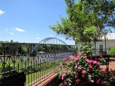 View of the Edmund Pettus Bridge from the historic St. James Hotel at Selma, AL.