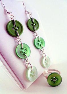Button Earrings that Dangle!
