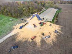 Silo Collapsed Tractor Drawbar, John Deere Tractors, Big Rig Trucks, Fire Trucks, Construction Fails, Abandoned Detroit, John Deere Combine, Farm Humor, Country Girl Life
