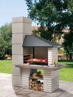 backyard design – Gardening Tips Barbecue Garden, Outdoor Barbeque, Brick Grill, Patio Grill, Outdoor Fireplace Designs, Backyard Fireplace, Backyard Patio Designs, Backyard Bbq, Parrilla Exterior