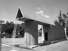 """Aldo Rossi, Monument to the Resistance in Segrate, Italy, 1965 In his words: """"The design closes off the square against the landscape by means of a…"""