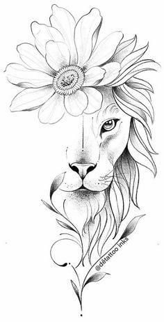 Lion Drawing Simple, Simple Lion Tattoo, Art Drawings Sketches, Tattoo Drawings, Body Art Tattoos, Tattoo Femeninos, Tattoo Outline, Wolf Tattoos, Animal Tattoos