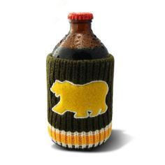 The Drink Toque - Project Grizzly  Classic, vintage-style, knit koozie. Iconically Canadian.