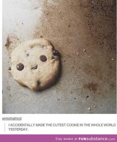 That awkward moment when a cookie is cuter than you...