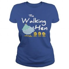 The Walking Hen T Shirts, Hoodies. Get it now ==► https://www.sunfrog.com/Pets/The-Walking-Hen-Royal-Blue-Ladies.html?41382