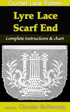 http://claudiabotterweg.com/lyre-lace-scarf-end-filet-crochet-pattern/