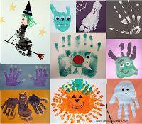 Ma Tchou team: empreinte pied & main pour Halloween Diy Halloween, Theme Halloween, Halloween Crafts For Toddlers, Toddler Halloween, Halloween Activities, Halloween 2017, Holidays Halloween, Diy For Kids, Happy Halloween
