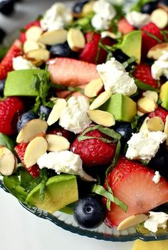 Triple-Berry Summer Salad - Anna Things and Thoughts