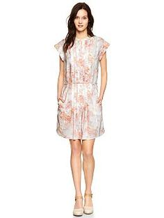 Pleated floral shirtdress | Gap $69.99