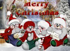 Cute Merry Christmas Bears