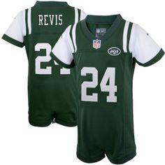 Nike Darrelle Revis New York Jets Newborn Game Romper Jersey – Green