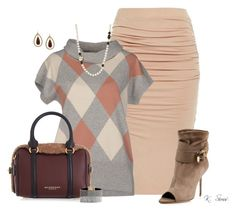 """""""Argyle & Booties"""" by ksims-1 ❤ liked on Polyvore featuring moda, Peserico, Burberry, Zsa Zsa, GUESS e 1928"""
