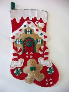 Completed Bucilla Gingerbread House Candy by ChuckleMonkeyDesigns, $72.50