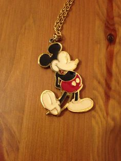 Vintage Mickey Mouse Necklace 1970s by SageandDeesVintage on Etsy