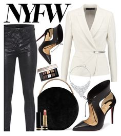 """Pack For NYFW 💄👗👒👠👜"" by erliza on Polyvore featuring Donna Karan, Eddie Borgo, rag & bone, Christian Louboutin, Swarovski, Givenchy and Gucci"